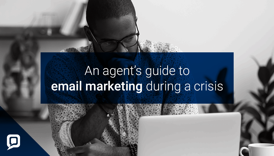 Estate agent email marketing in a crisis blog cover